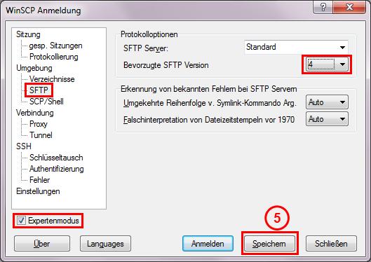 SFTP version