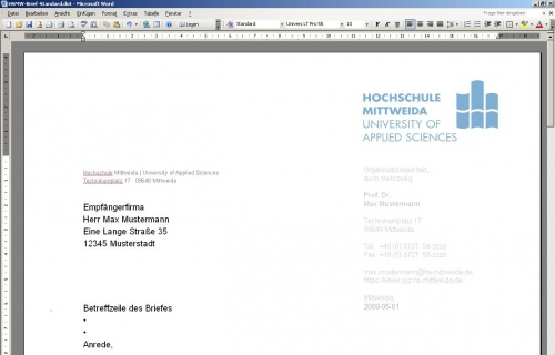 Anpassen der Office-Vorlagen – HSMWiki