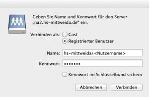 Erstellen Von NetzlaufwerkVerbindungen Unter Mac OS X HSMWiki - Minecraft server erstellen fur mac